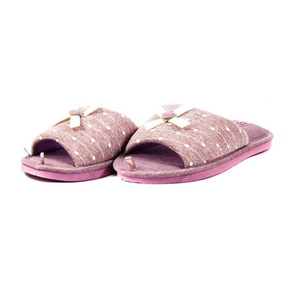Тапочки комнатные женские Home Story 90211-EO фиолетовые