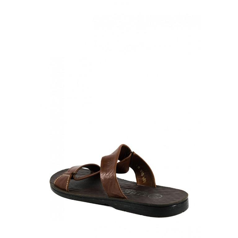 Шлепанцы мужские TiBet 50 коричневые