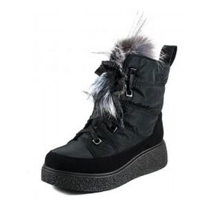 Ботинки зимние женские Prima D'arte 1480-F622-1 черные