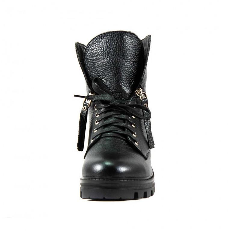 Ботинки зимние женские Lonza L-07103-2311-3 KMS черная кожа