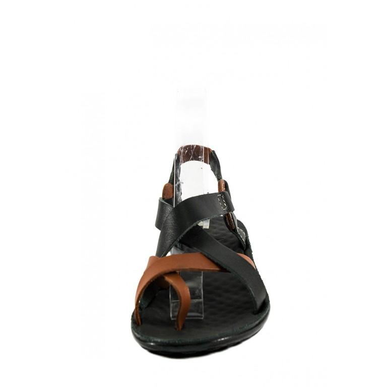 Босоножки женские TiBet 75-11 черно-коричневые