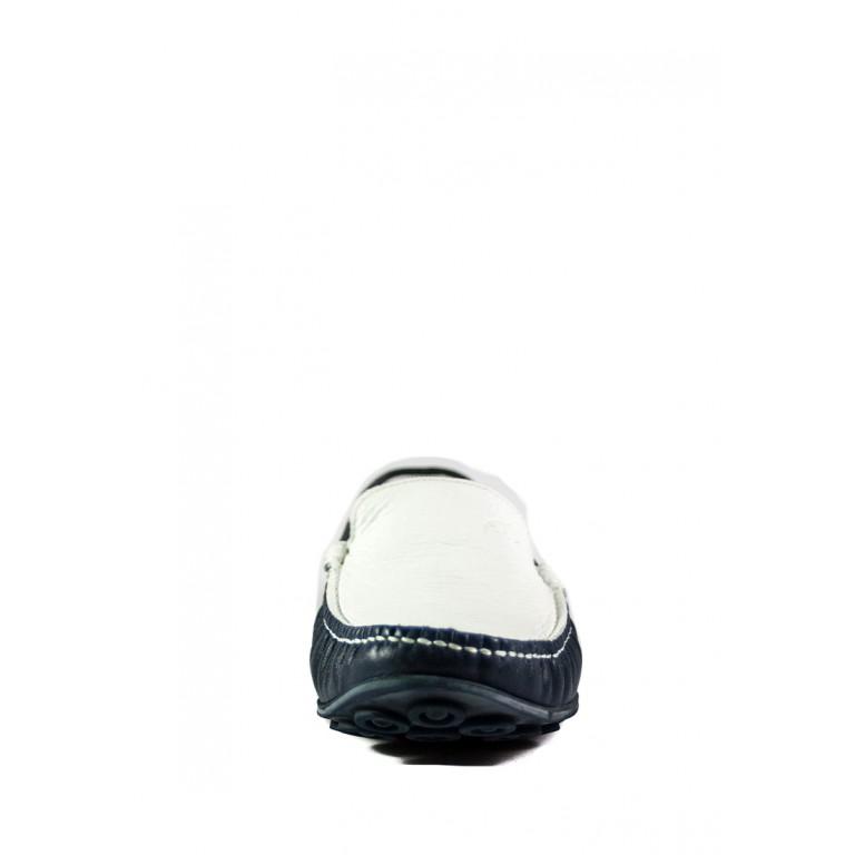 Мокасины мужские MIDA 110339-73 сине-белые