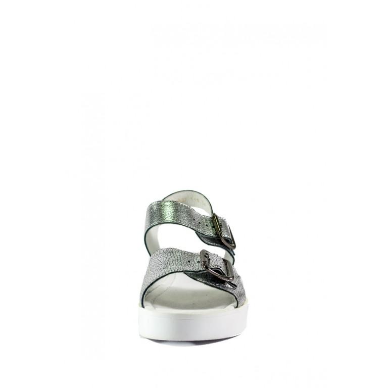 Босоножки женские MIDA 23827-115 серебро кожа