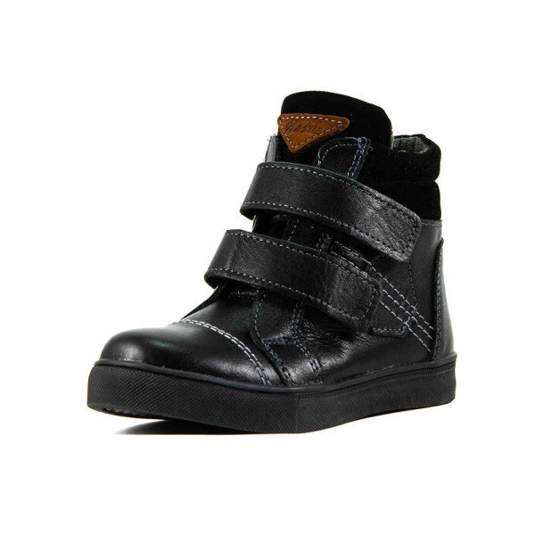 Ботинки зимние подросток Maxus Тайм-д черная кожа