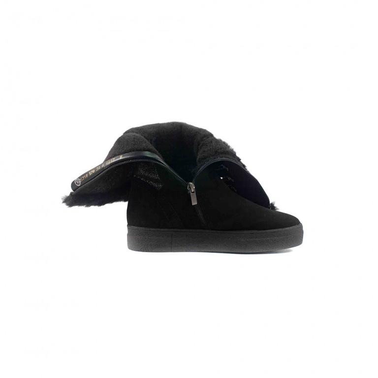 Сапоги зимние женские MIDA 24719-570Ш черный нубук