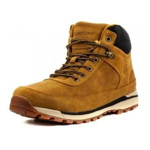 Ботинки зимние мужские Restime KMZ18620 кэмел