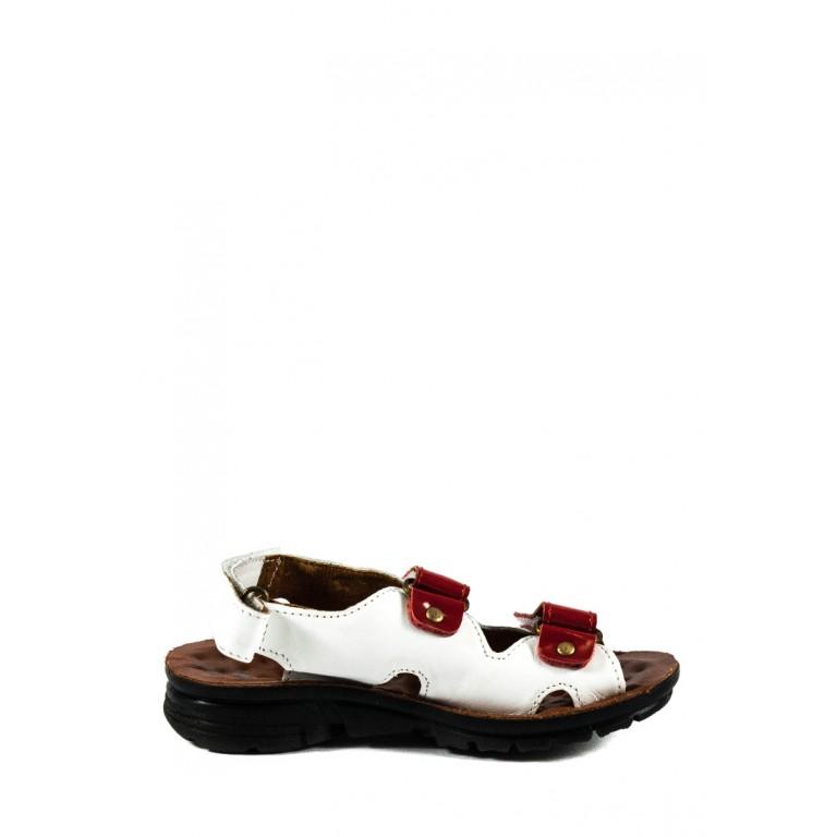 Сандалии для девочек TiBet 011-25-08 красно-белые