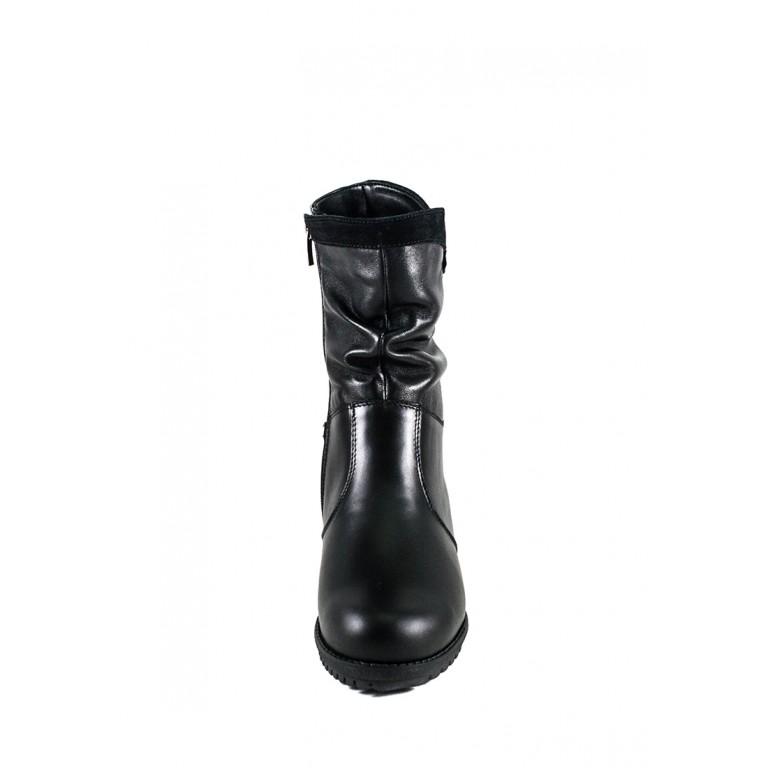 Сапоги зимние женские SND 41247-2-35Б черная кожа
