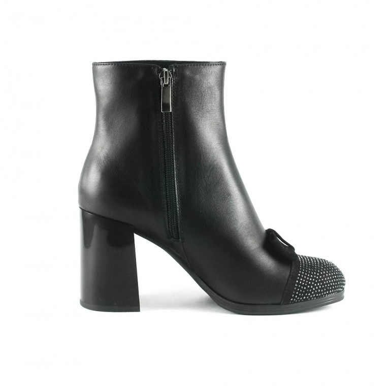 Ботинки демисез женские FL805-1 чк черная кожа