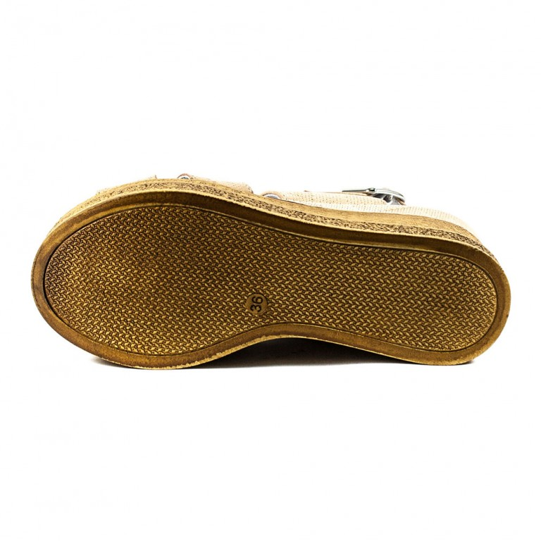 Босоножки женские Camelfo 886 бежево-коричневые