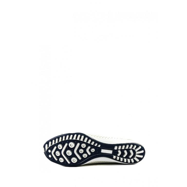 Балетки женские летние Allshoes 10089-D20 бело-серые