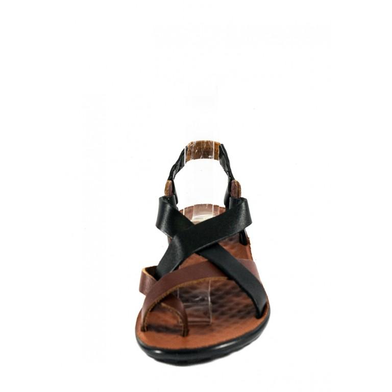Сандалии женские TiBet 275-03-01-04 коричнево-черные