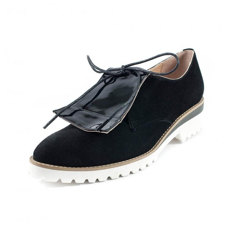 Туфли женские Tutto Shoes T3319 черная замша