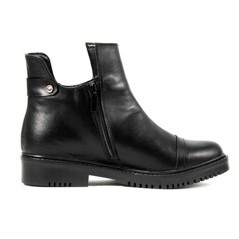 Ботинки демисезон женские SND SDAZ-12 черная кожа