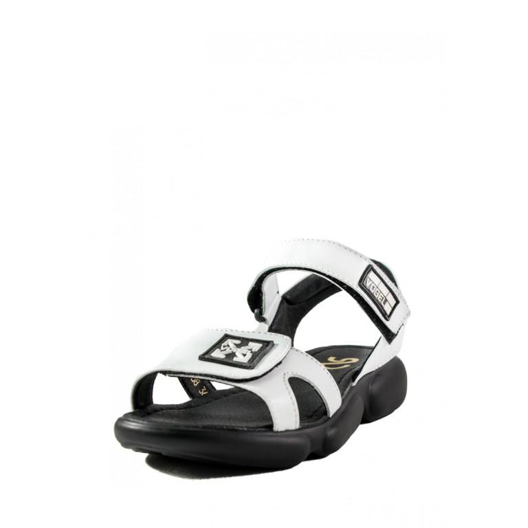 Сандалии женские SND 22608-1 черно-белые