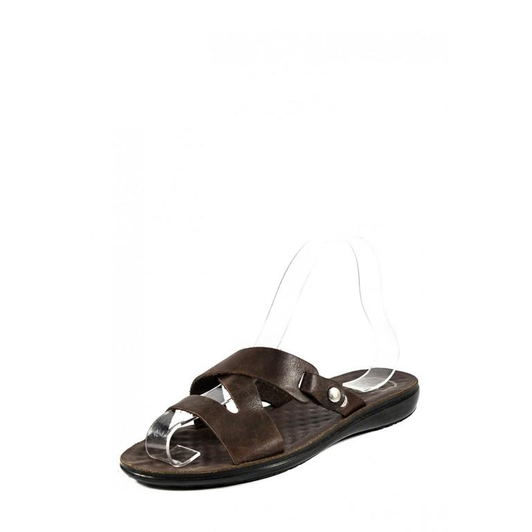 Шлепанцы женские TiBet 34-47 темно-коричневые