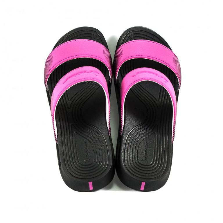 Шлепанцы женские Rider 82576-20753 черно-розовые