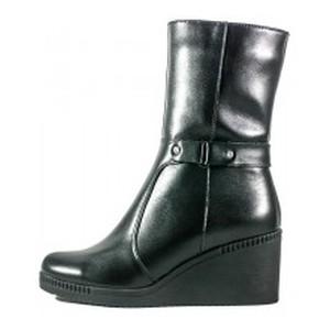 Ботинки зимние женские SND SDZ512 черная кожа