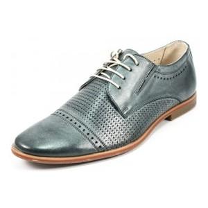 Туфли мужские MIDA 13402-321 темно-серая кожа