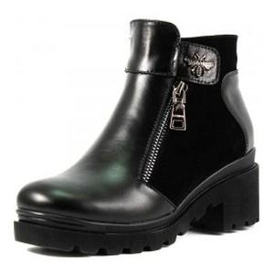 Ботинки демисезон женские SND SDAZ-38 черная кожа-замша