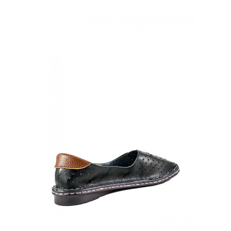 Балетки женские Allshoes 77937-11-3 черная кожа