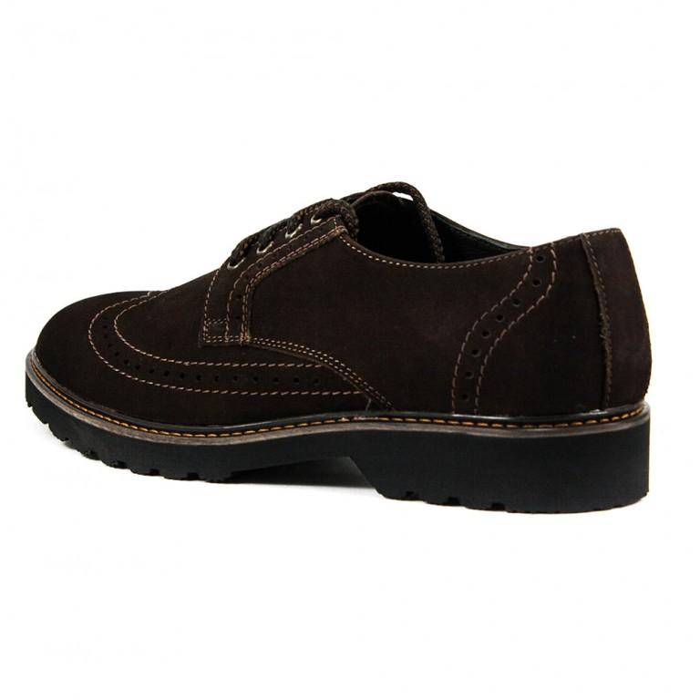 Туфли мужские MIDA 11419-82 коричневый нубук