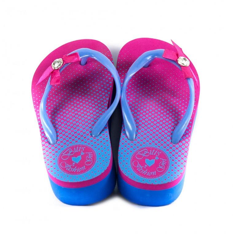 Шлепанцы детские 8943-М светло-голубой