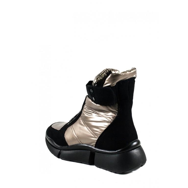Ботинки зимние женские Prima D'arte 91259-F414-3 металлик