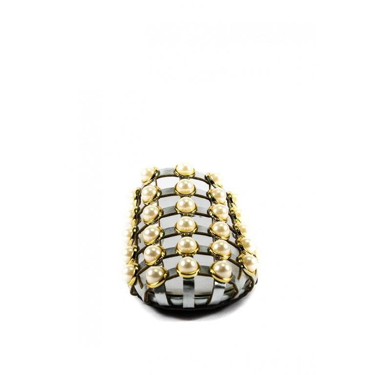 Шлепанцы женские Sopra СФ YY-100 серебрянные