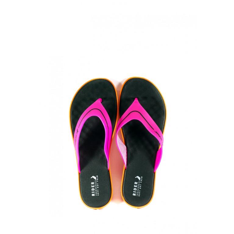 Вьетнамки женские Rider 82739-23549 черно-розовые