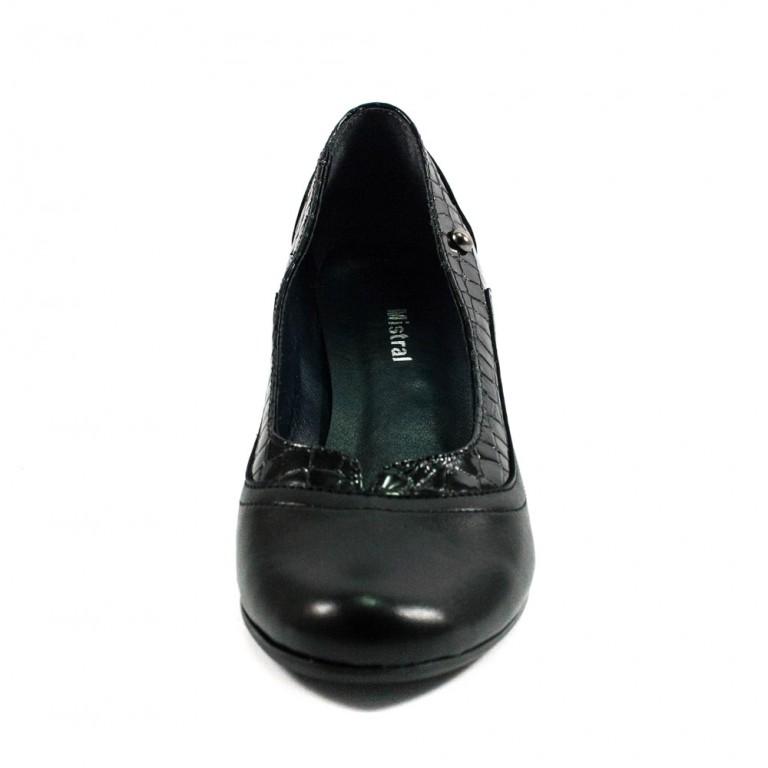 Туфли женские MISTRAL M501 черная кожа