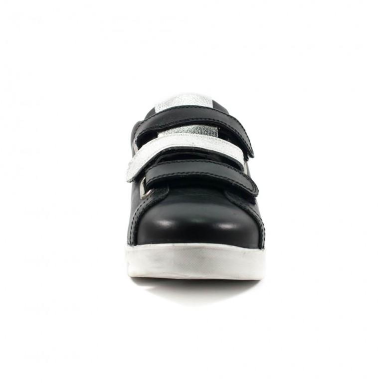 Кроссовки женские MIDA 21958-1 черная кожа