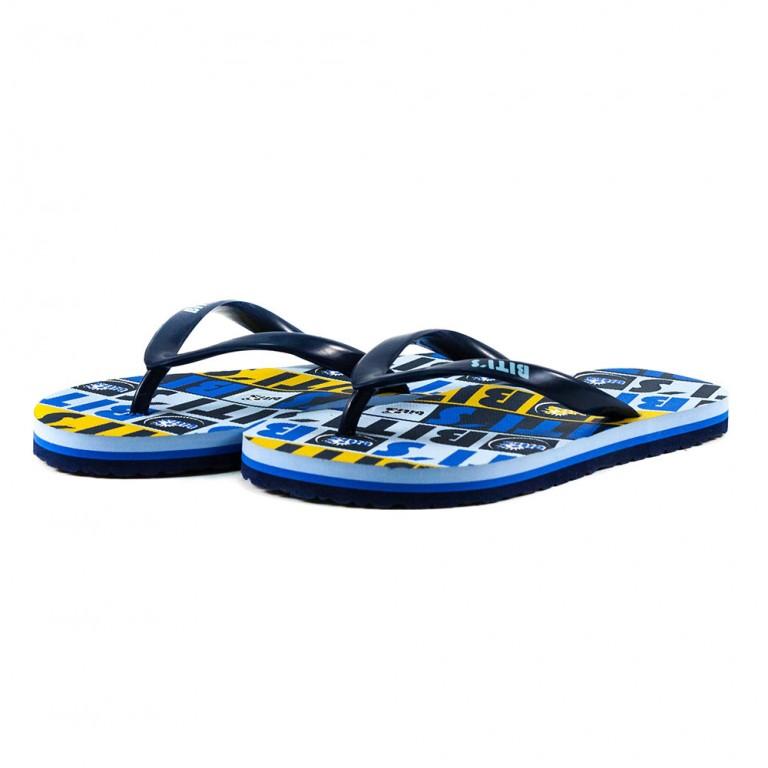 Шлепанцы детские 8953-А сине-желтые