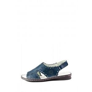 Босоножки женские Allshoes 77937-10 тёмно-синий