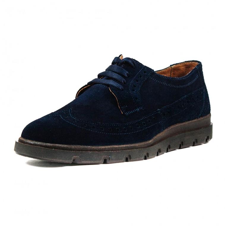 Туфли мужские MIDA 110534-250 синяя замша