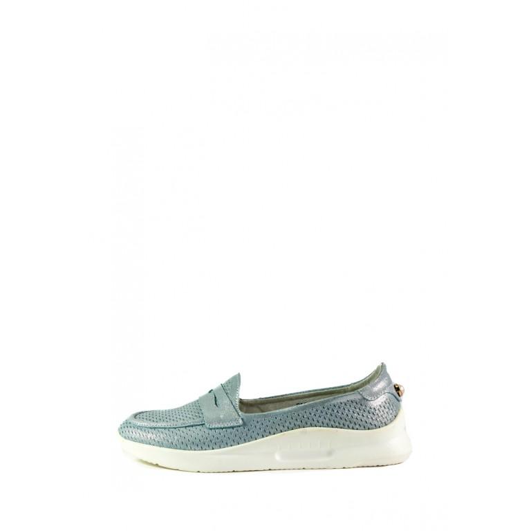 Мокасины женские Allshoes 206-720XM-16-1 светло-бирюзовые