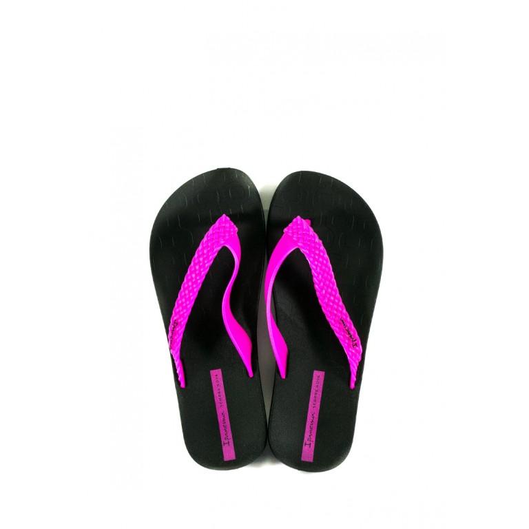Вьетнамки женские Ipanema 26362-20753 черно-розовые