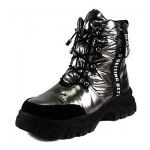 Ботинки зимние женские Lonza 3951-N581 металлик