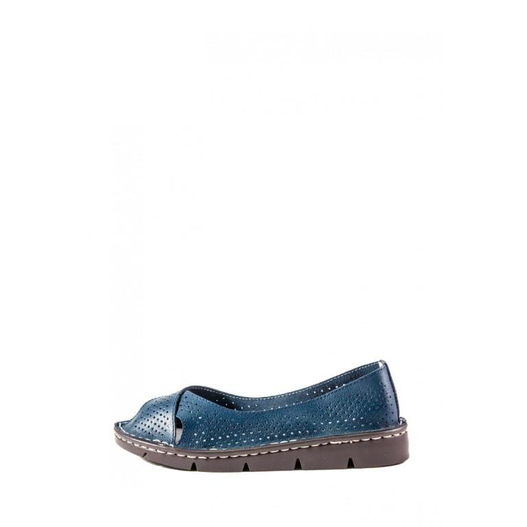 Балетки женские Allshoes 844-6 тёмно-синий