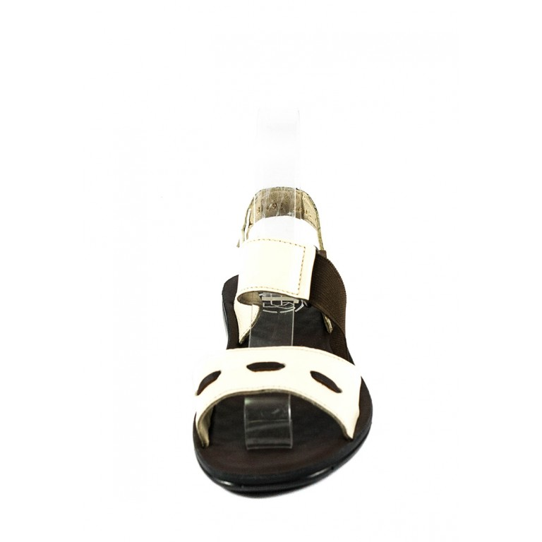 Сандалии женские TiBet 493-02-09 коричнево-кремовые