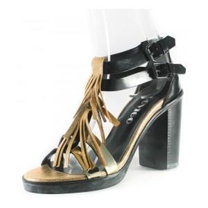 Босоножки женские Rovigo-Rifellini R866-Y-399 черно-золотые
