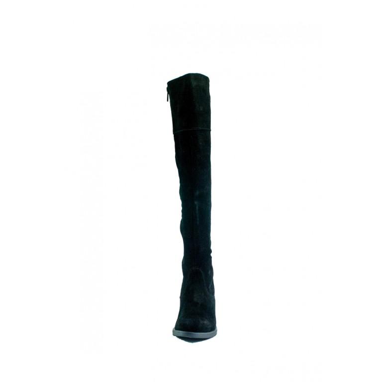 Сапоги зимние женские SND SDAZ 1032 черная замша