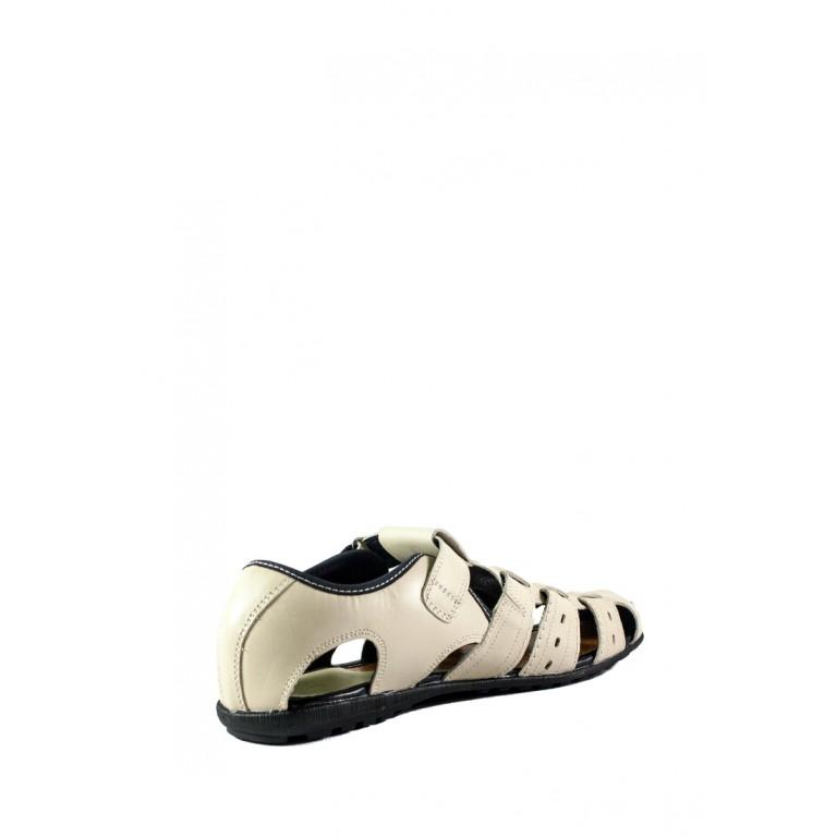 Сандали мужские MIDA 13028-14 молочная кожа