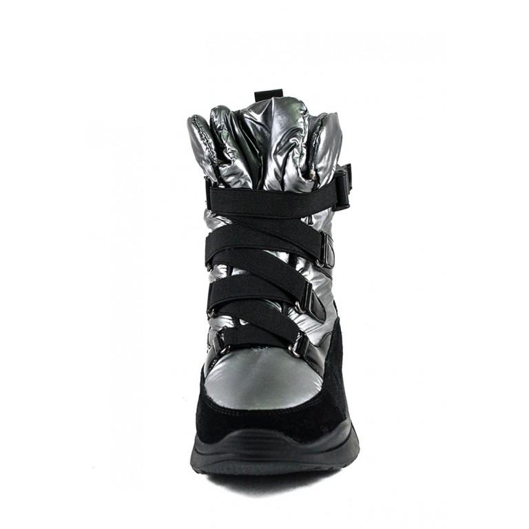 Ботинки зимние женские Lonza 1598-N682 серебряные