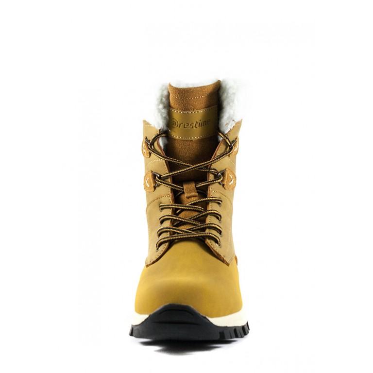 Ботинки зимние женские Restime KWZ19408 кэмел