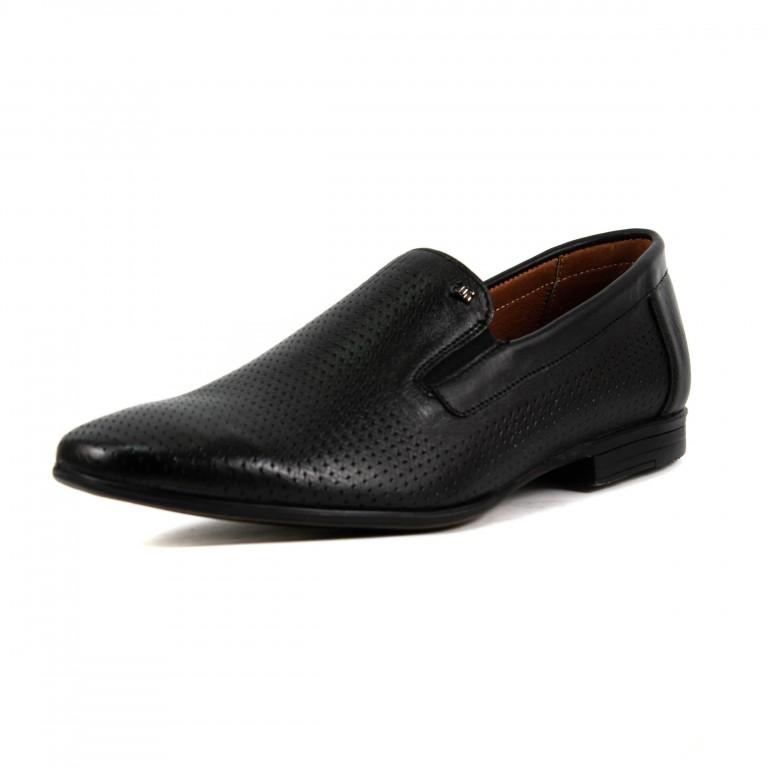 Туфли мужские MIDA 13441-1 черная кожа