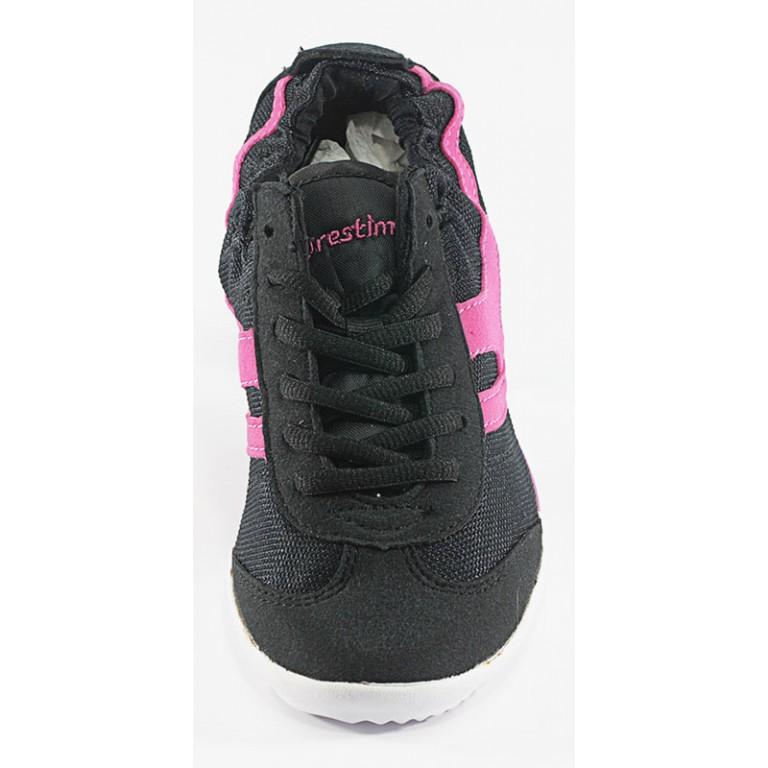 Кроссовки женские Restime CWL14725 черно-розовый