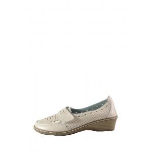 Туфли женские Allshoes 77308 бежевая кожа