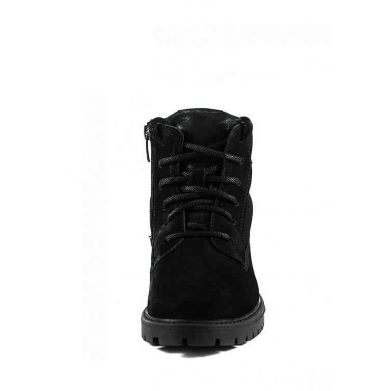 Ботинки зимние подросток MIDA 34122-655Ш черные