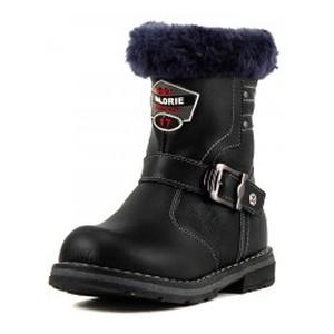 Ботинки зимние детские Калория T0506-2180A черная кожа